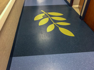 Tarkett Rubber Tile - Custom Color w/ Sonic Cut