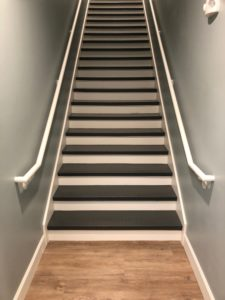 Tarkett Stair Treads - Raised Round, Charcoal