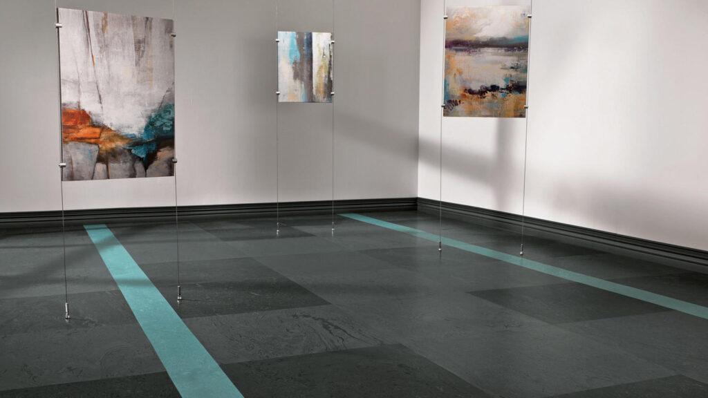 Tarkett Mesto Configurations Dark Rubber Flooring