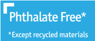 Cert Icon Phthalate Free Except Recycled Mat