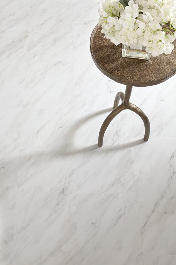 Novafloor Serenbe Carrara Marble Pure 3