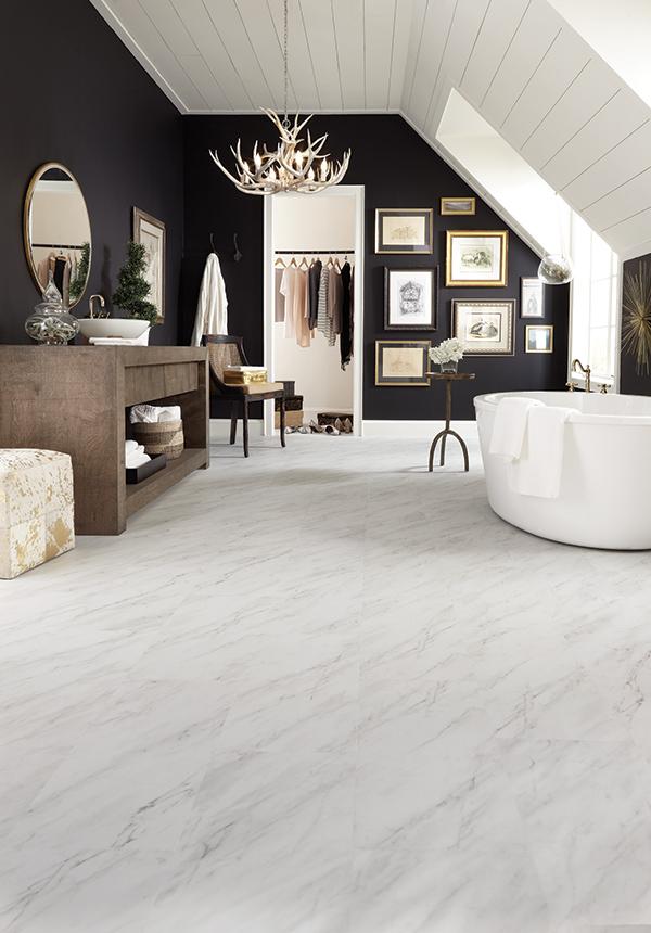 Novafloor Serenbe Carrara Marble Pure
